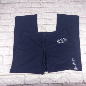 Gap sweat lounge pants blue large New NWT